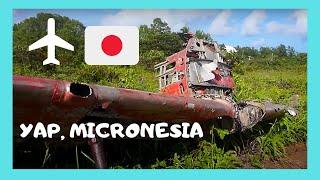 Island of YAP: Damaged WW2 Japanese zeros ✈️ and the original landing strip (Pacific Ocean)