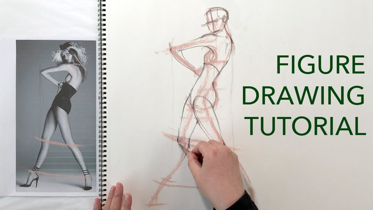 Figure drawing tutorial angles proportions male female