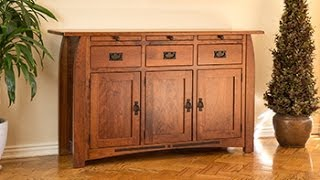 Barn Furniture - Mission Buffet Server Solid Cherry