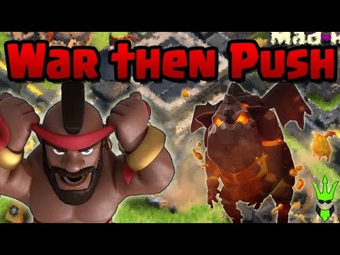 War Attacks ➡ Pushing / Farming ➡ Fortnite | @ClashBashing on Twitter | Clash of Clans