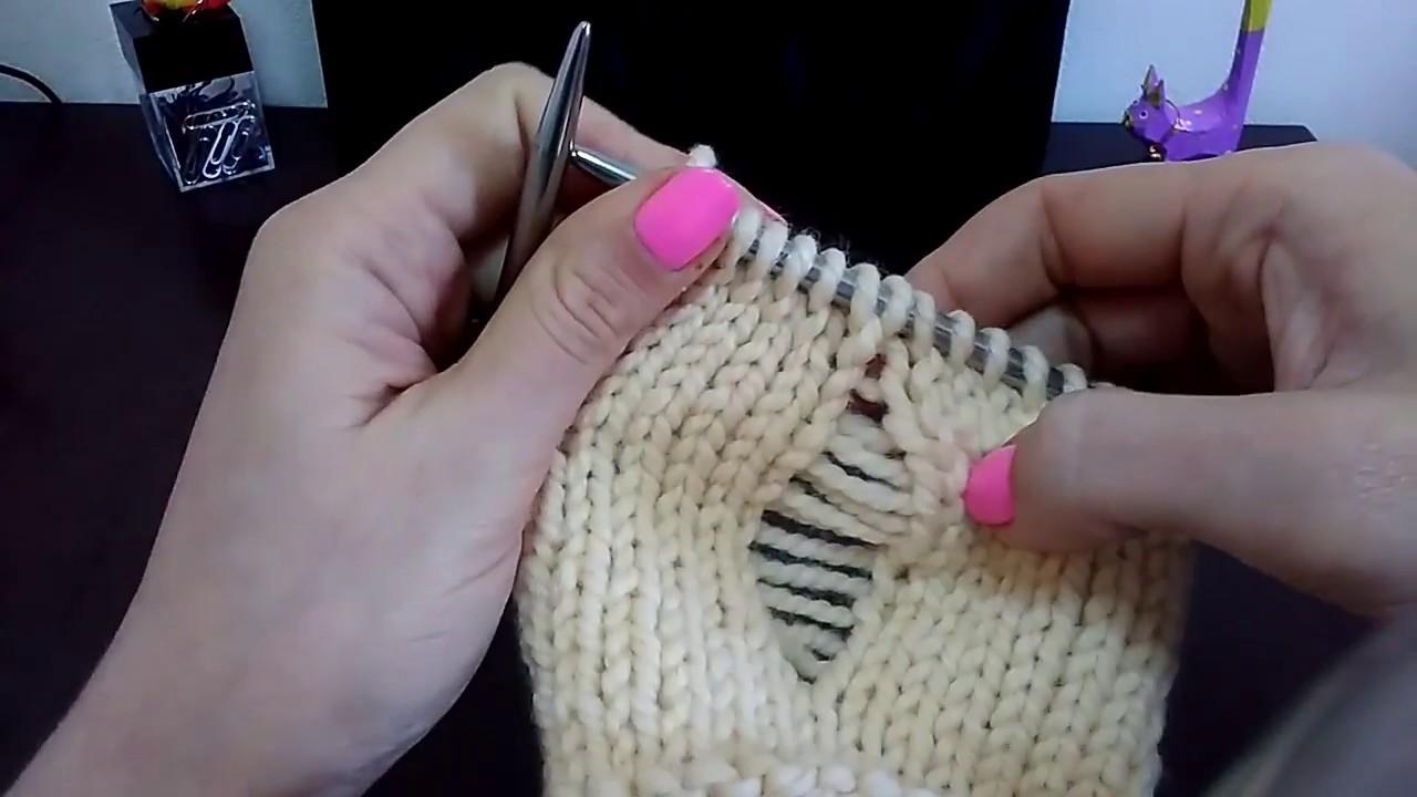 Вязание спицами петли спустить