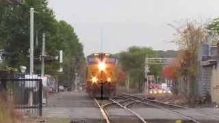CSX Circus Power & Morning Commuter Rail Action (Framingham MA)
