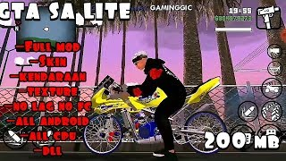Gambar cover Cara download game gta sa lite android offline | full mod 200 mb