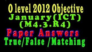 O Level Doeacc/Nielit  2012 January Solve Question  ICT (M4.3.R4)Paper In English (Objection Type)