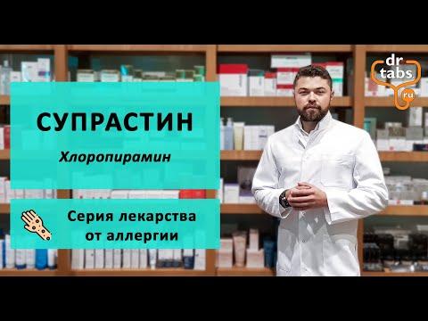 Супрастин (Хлоропирамин) - главное про лекарство