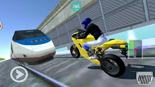 3D Driving Class #13 Train Vs Moto Bike😮! Car Games - Android Gameplay