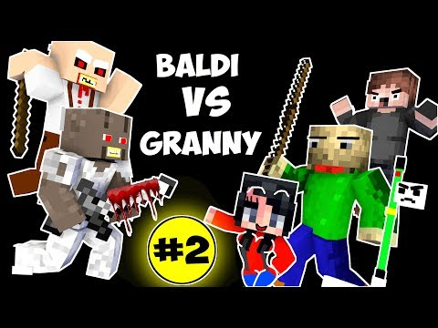 Monster School : BALDI'S BASICS VS GRANNY CHALLENGE PART 2 - Minecraft Animation Kids Mobs