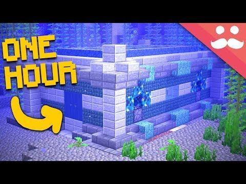 The 1 HOUR Ocean Bunker in Minecraft 1.13!