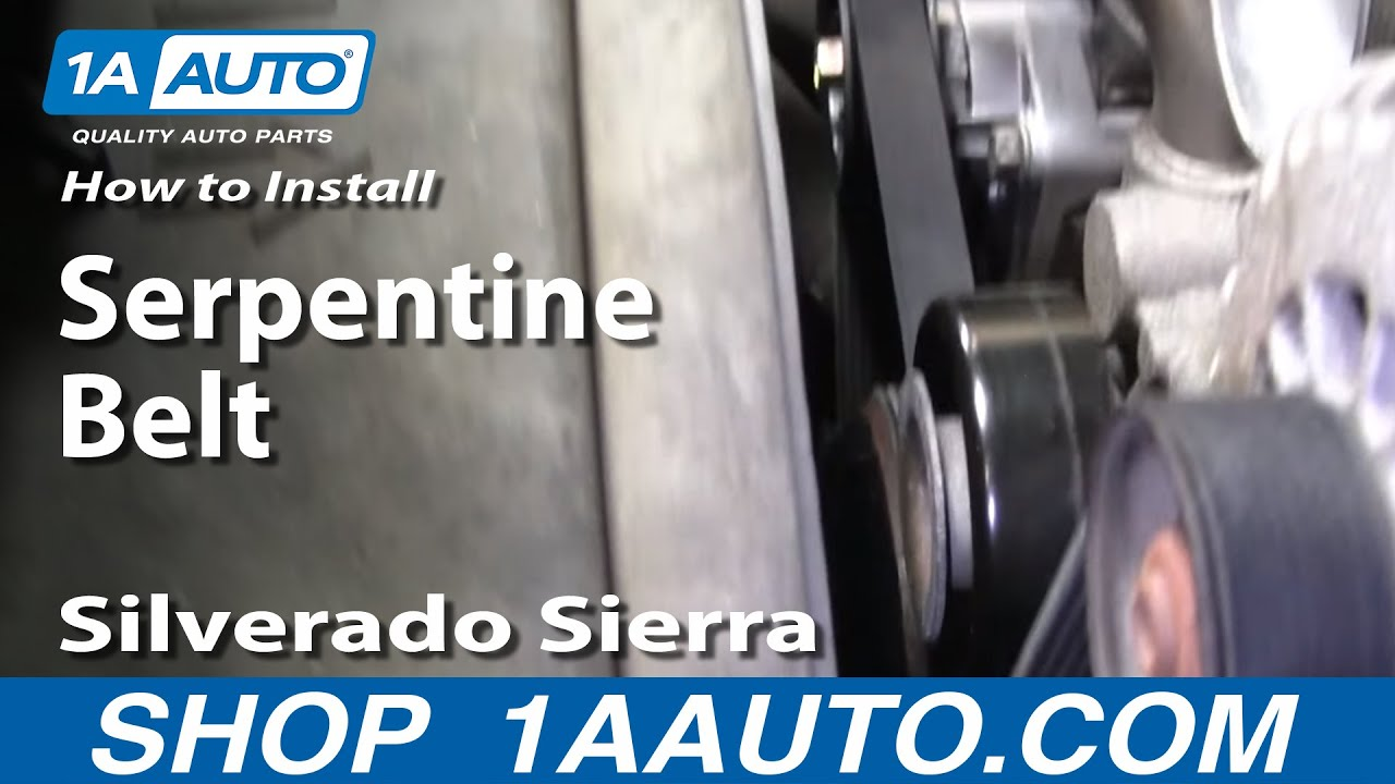 medium resolution of how to replace serpentine belt 99 04 gmc sierra 2500 youtube silverado 6 0 belt diagram