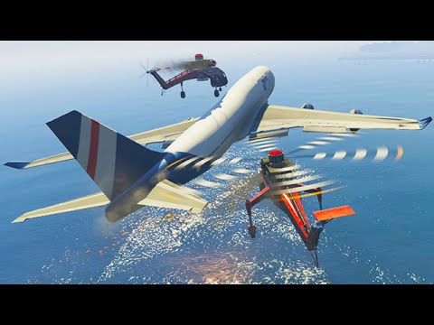 Mission Impossible: Mid-air Plane Hijack! (GTA 5 Funny Moments)