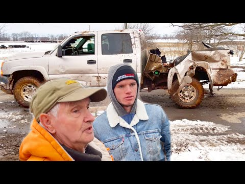 Destroying my Grandpas Truck and not buying him a new one - WhistlinDiesel