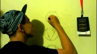 drawing the 7 chakras very fast time lapse