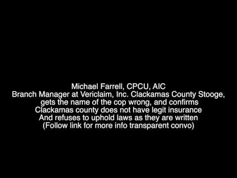 Michael Farrell CPCU AIC Branch Manager at Vericlaim Inc. Clackamas County Stooge,