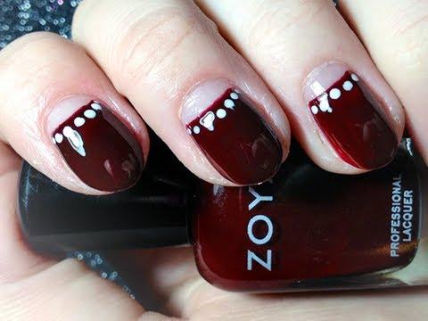 Easy Half-Moon Manicure - Nail Tutorial