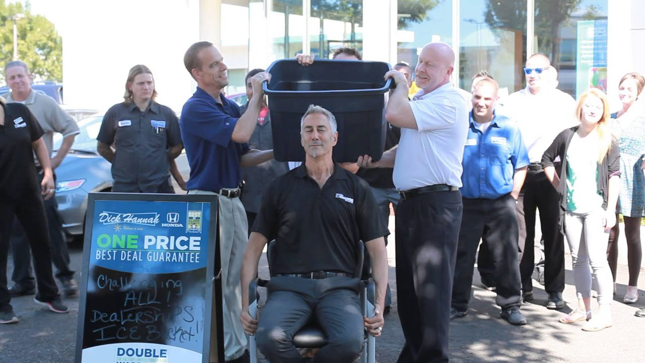 Perfect Dick Hannah Honda GM Takes On The ALS Ice Bucket Challenge!