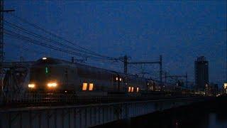 夏至間近!! 寝台特急 サンライズ瀬戸・出雲 285系@東海道本線・上淀川鉄橋