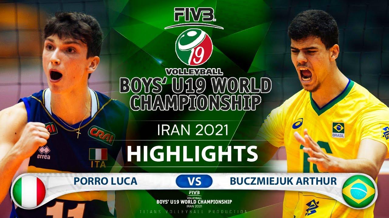 Italy vs Braziil | Boys U19 World Champs 2021 | Highlights | Porro Luca vs Buczmiejuk Arthur