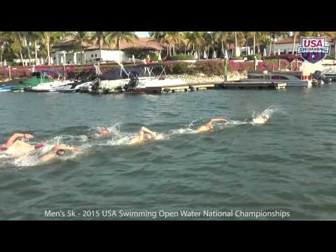 2015 Men's 5k USA Swimming National Open Water Championships   Full Race