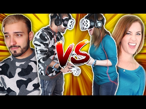Arab vs Irish | HTC Vive Horror ICE SLAT VR Challenge (Karim and Bridgit)