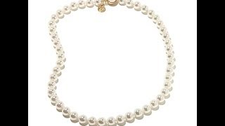 Majorica 8mm Round Manmade Organic Pearl Necklace