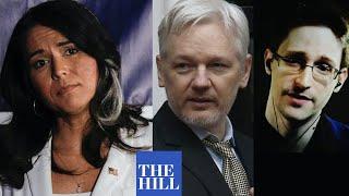 Tulsi Gabbard calls for US to drop prosecutions of Edward Snowden, Julian Assange