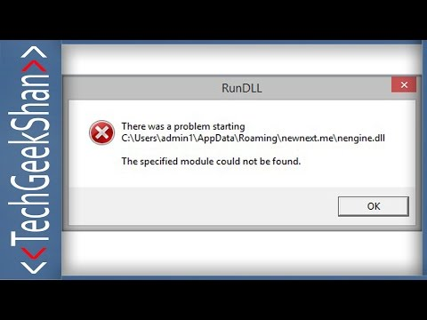 "Fix ""There was a problem starting.The Specified module could not be found."" RunDLL startup error"