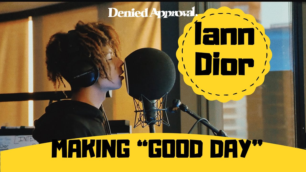 """In the studio with Iann Dior recording """"Good Day"""""""