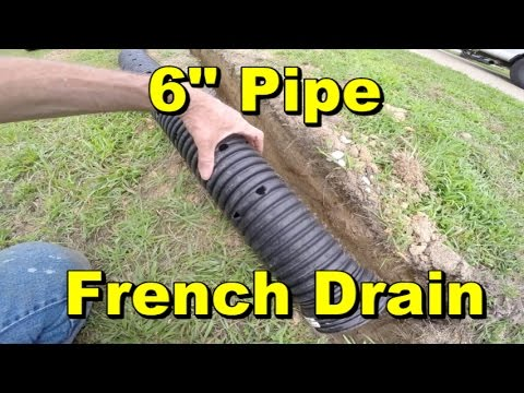 Yard Drain French Drain 6 Inch Pipe Gravel Catch