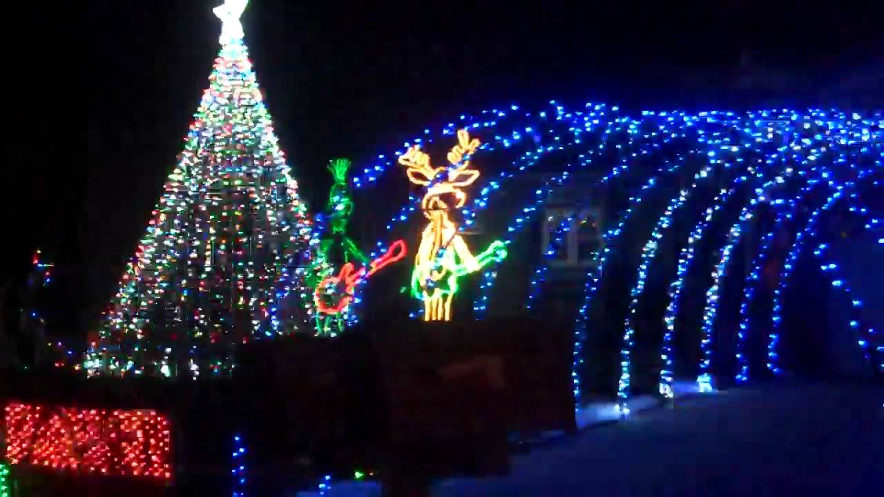 christmas light house in colorado springs co youtube