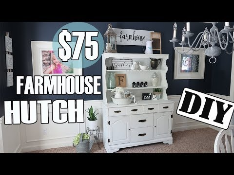 The $ 75 Farmhouse Hutch -  Easy DIY Project