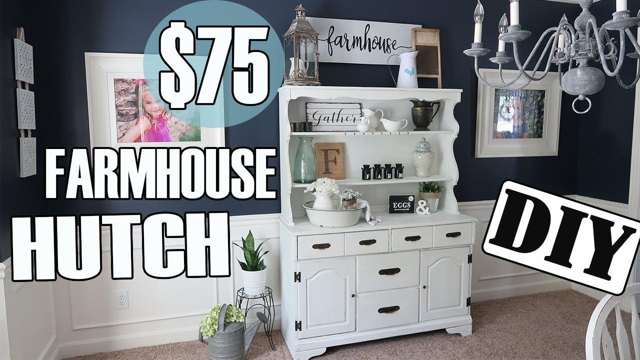 The 75 Farmhouse Hutch Easy Diy Project Youtube