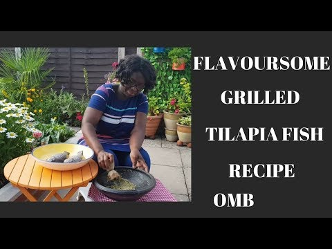 How To Grill A Flavoursome Tilapia Fish. Cooking In The Garden With Mama Betty - EP 3
