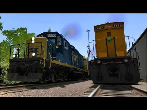 Some CSX trains in Train Simulator 2017 by WMRRVA