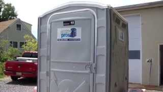 NJ Portable Toilet VIP XL Unit One of the fanciest Porta Pottys out there