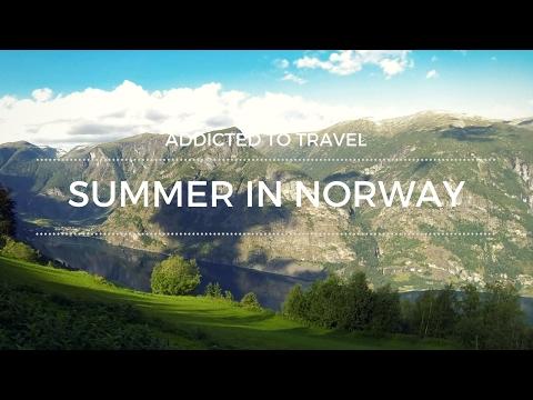 Norwegia latem - Bergen, Flåm i fjordy