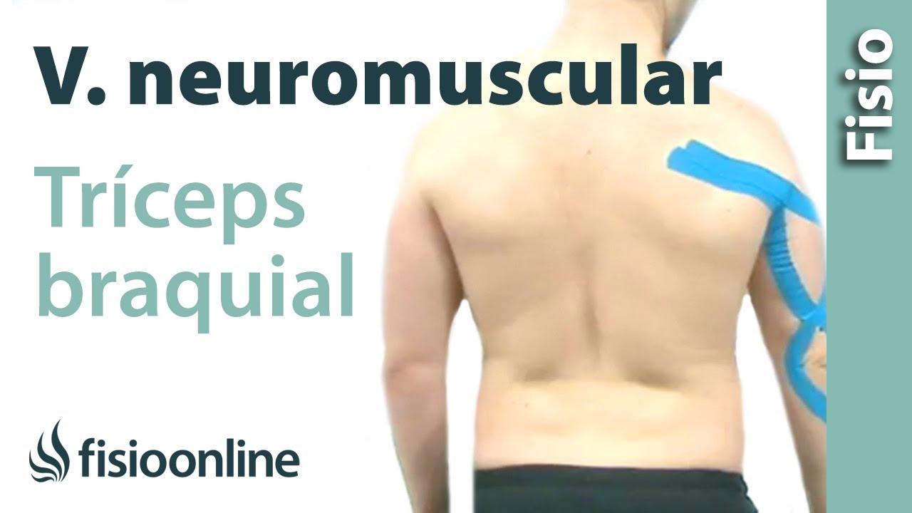 Cómo relajar el tríceps braquial con vendaje neuromuscular - YouTube