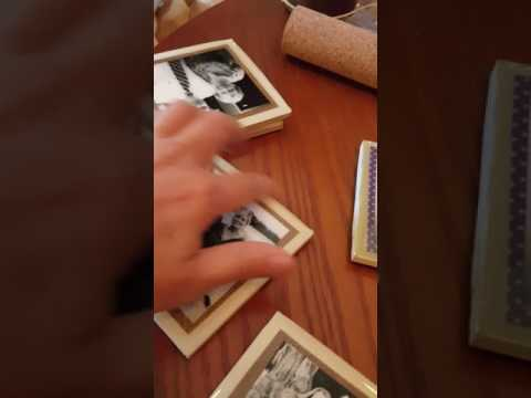 Making photo coasters with tiles and resin Part 3