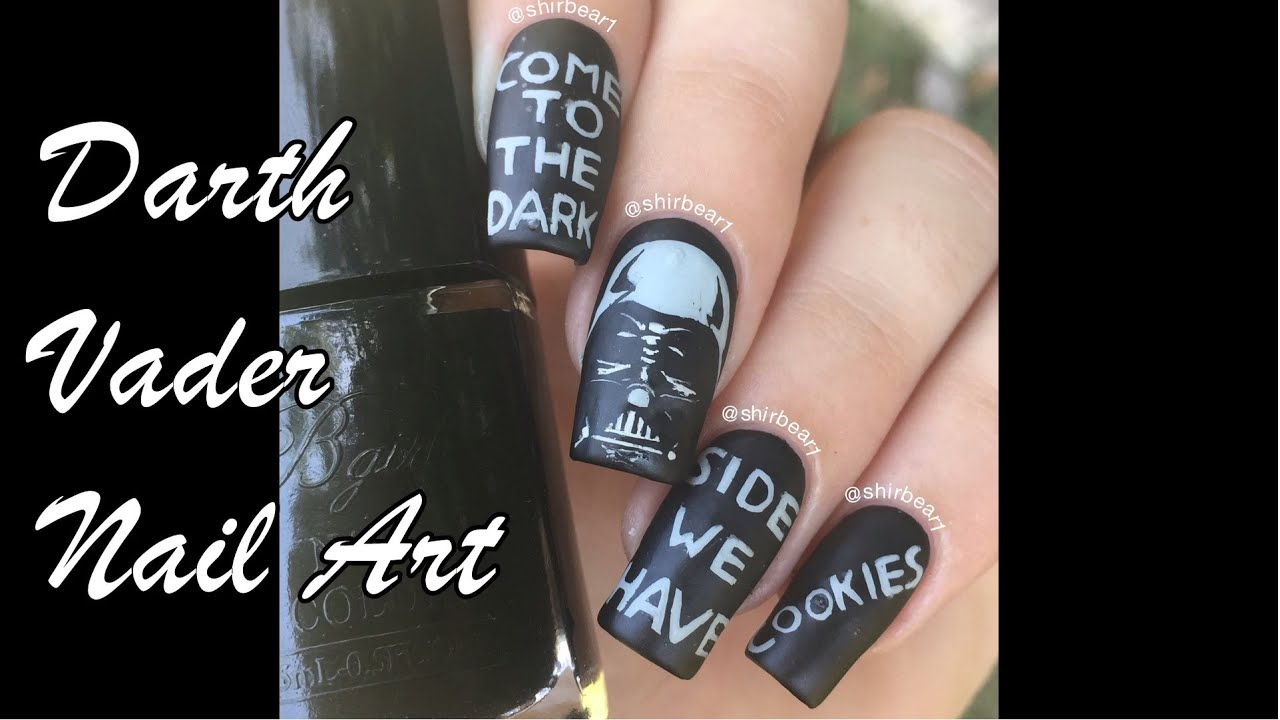 Darth Vader (Come to the Dark Side, We Have Cookies) Nail Art ...
