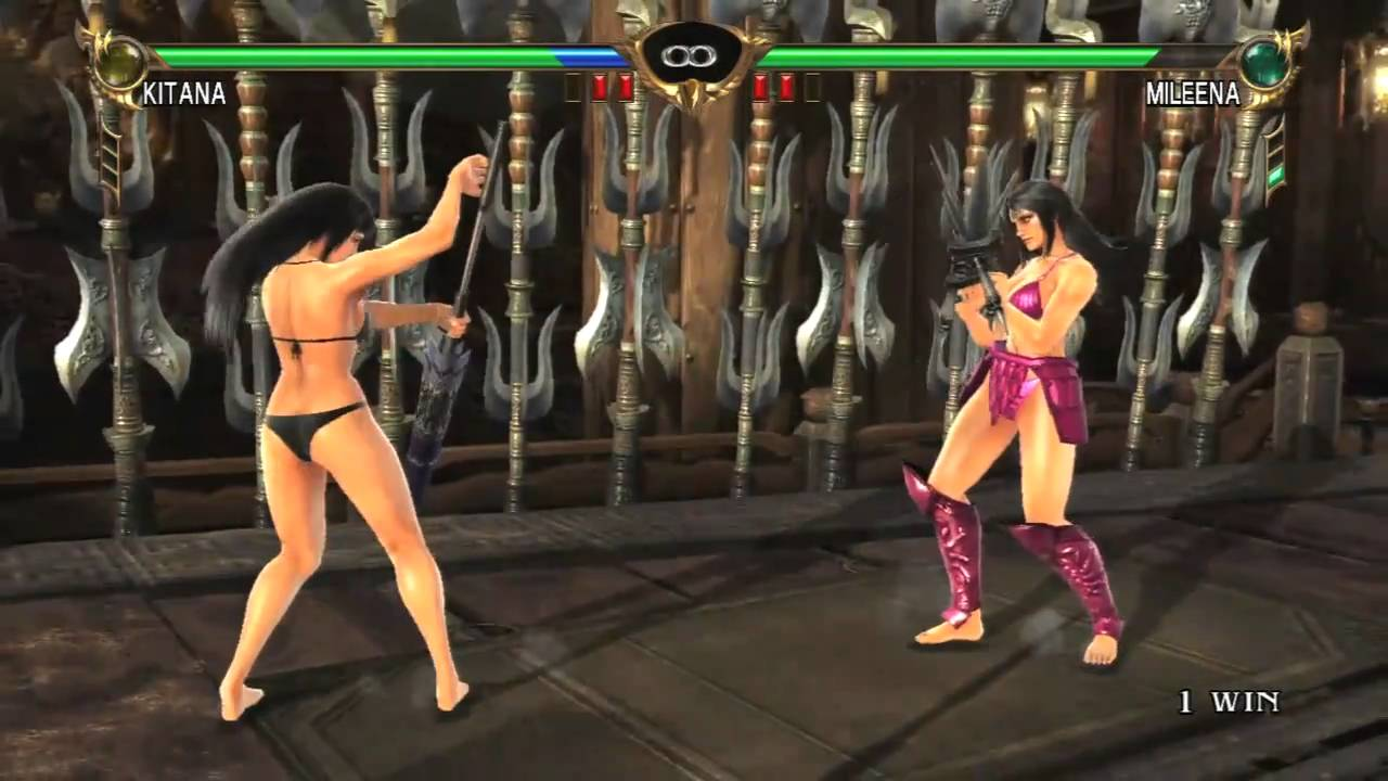 Kitana naked with boobs from mortal kombat