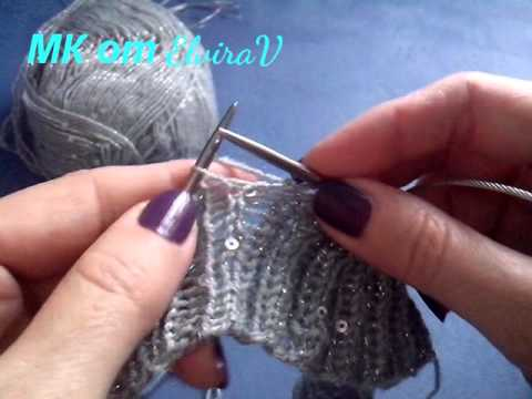 Вязание с бисером на спицах и крючком