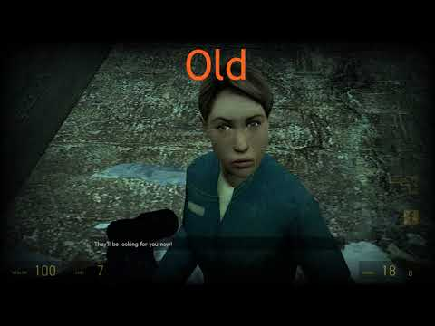 Half-life 2 New Vs Old Engine (Visual Wise)