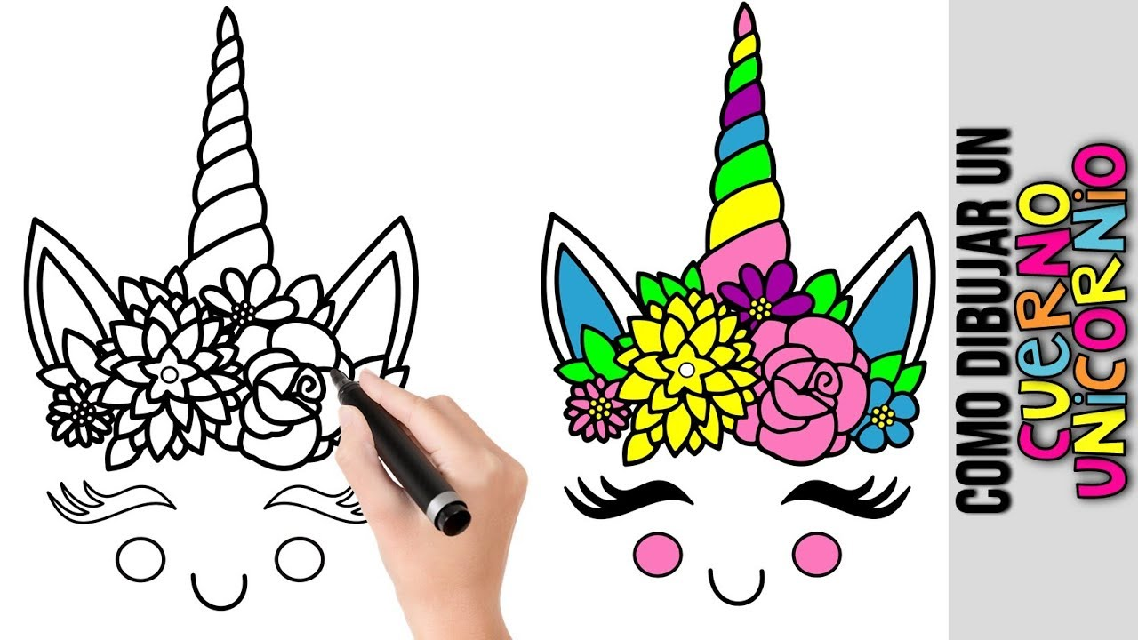 Como Dibujar Cuerno Unicornio Kawaii Dibujos De Unicornios