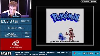 Pokemon Blue Any% NSC Speedrun - Live at ASM 2018