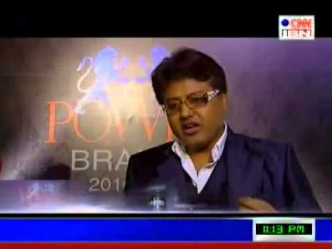 Launch of Prof  Arindam Chaudhuri Powerbrands on CNN IBN