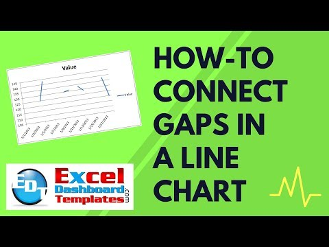 How-to Connect Gaps In An Excel Line Chart