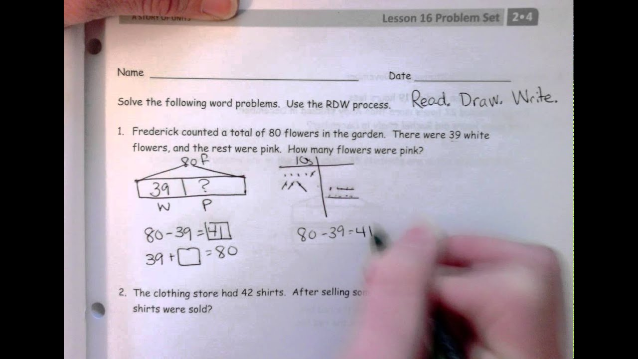 RDW Process in Grade 2 Module 4 Lesson 16 - YouTube