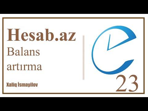 #23. Hesab.az / Ev Telefon Balansını Online Artırma