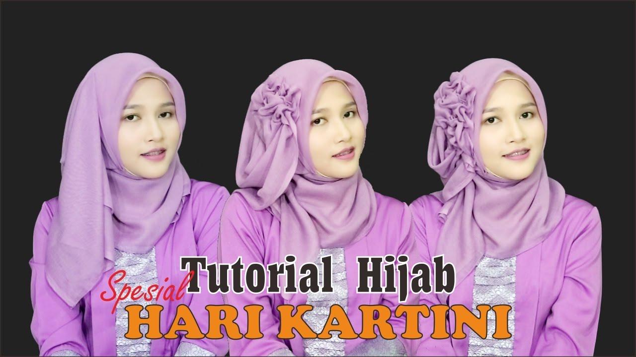 Tutorial Hijab Segiempat Paris Spesial Memperingati Hari Kartini
