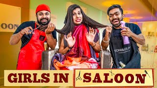 Girls In Saloon | Sanjhalika Vlog