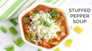 Easy Healthy Stuffed Pepper Soup Recipe
